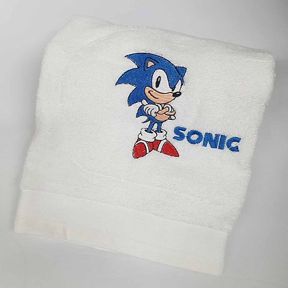 Embroidered Sonic Hand Towel