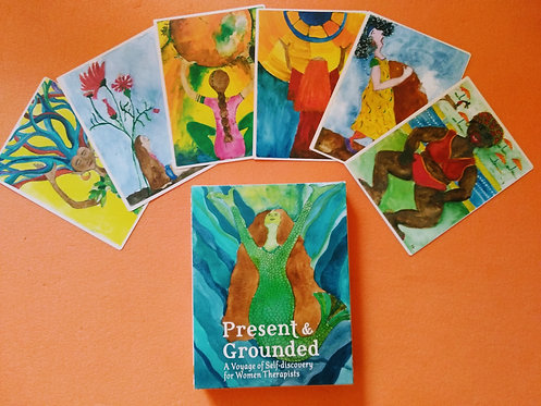 Present & Grounded  card deck -מהדורה אנגלית