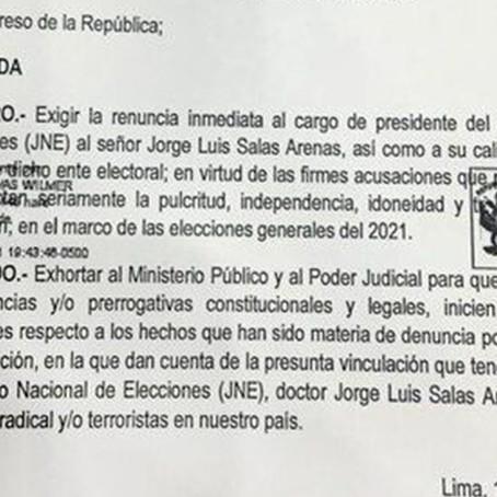 Congresistas de Acción Popular plantean moción para destituir al presidente del JNE