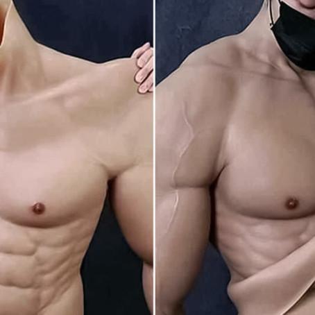 Crean traje hiperrealista que hace parecer a los hombres musculosos