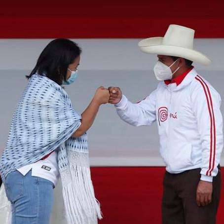 Datum: Keiko Fujimori acorta distancia con 36% a Castillo, quien va a la delantera con un 41 %