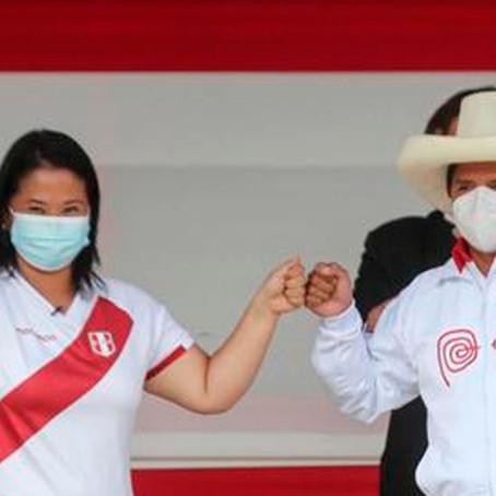 Encuesta IEP: Pedro Castillo supera a Keiko Fujimori por más de 10 puntos