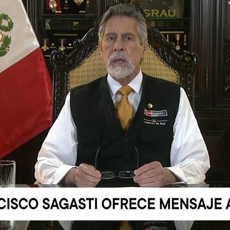 Francisco Sagasti brindó informe del Gobierno de transición