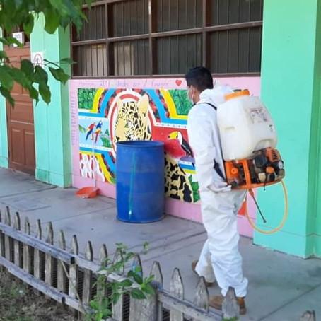 Elecciones 2021: Municipalidad de Manantay realizó desinfección en 20 centros educativos