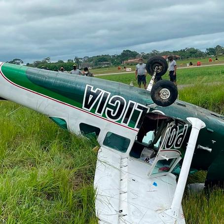 Avioneta PNP sufrió accidente aéreo