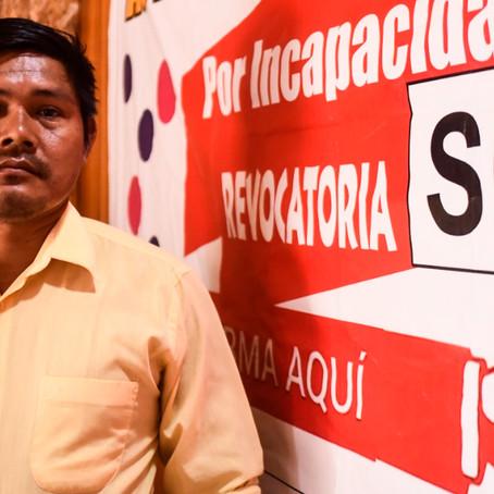 Gestor de revocatoria en Yarinacocha denuncia amenazas en su contra