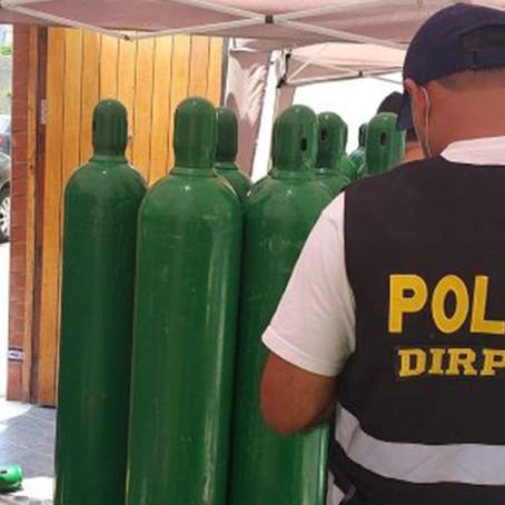 Policía interviene casa con más de 150 balones de oxígeno sin autorización sanitaria
