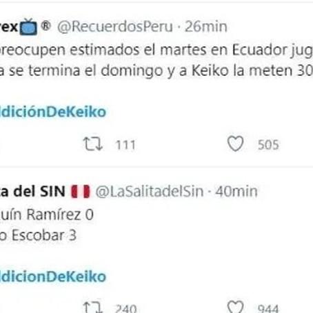 Futbol: Hinchas  aseguran que Keiko Fujimori dio mala suerte a la sección peruana