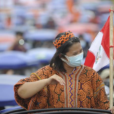 Keiko Fujimori tomó por asalto Pucallpa con multitudinaria caravana