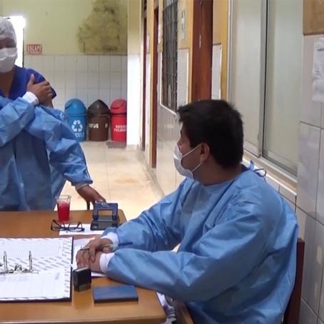 Médico  venezolano  recibió vacuna en Ucayali