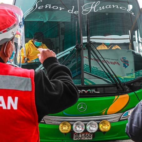 SUTRAN anuncia nuevo horario de tránsito de buses