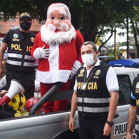 XIII Policía de Ucayali realizó entrega de juguetes a niños de Pucallpa