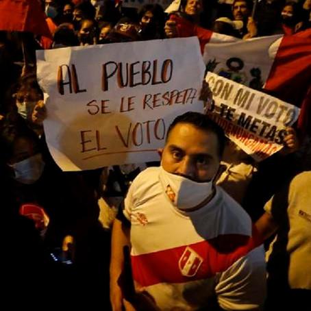 Keiko Fujimori: Simpatizantes de la candidata  realizaron marcha en Cercado de Lima