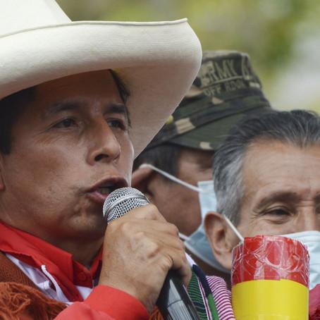 Intención de voto en el centro y sur del país es liderada por Castillo