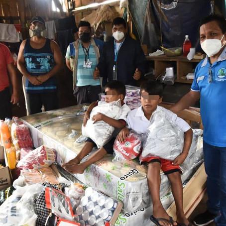 Equipo de Humanitario de Levantamiento de Cadáveres COVID-19 llevó ayuda social a niños huérfanos