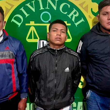 POLICÍA Y SERENAZGO CAPTURAN A VIOLENTOS RAQUETEROS