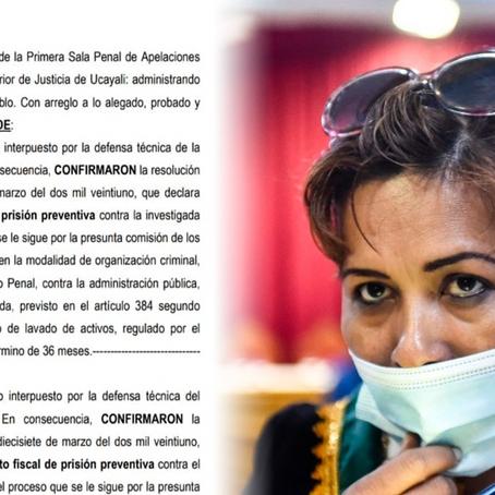 Caso 'Los Fantasmas de Ucayali': PJ confirma 36 meses de prisión preventiva contra Jerly Díaz