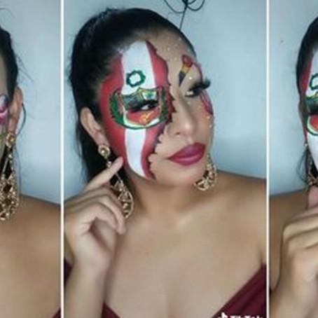 Bicentenario: Tiktoker peruana realizó maquillaje basado en las fiestas patrias