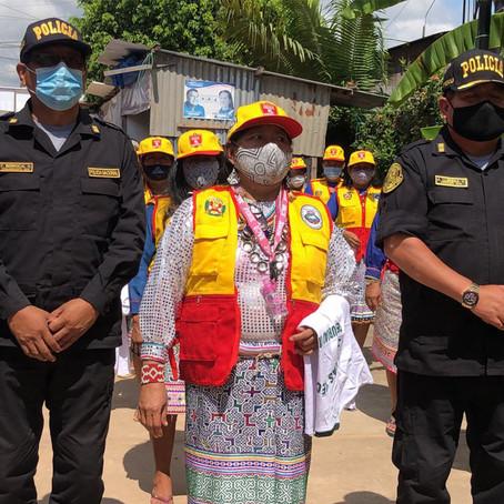 ARTESANOS SHIPIBOS LUCHARÁN JUNTO A LA POLICÍA CONTRA LA INSEGURIDAD CIUDADANA