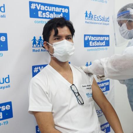 Inició la jornada de vacunación en la Red Asistencial de EsSalud Ucayali
