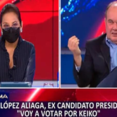 López Aliaga anunció que su voto en segunda vuelta será para Keiko Fujimori