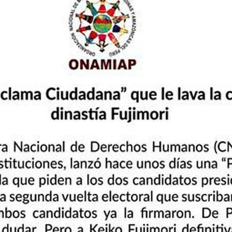 Keiko Fujimori: Organizaciones indígenas rechazan su firma de proclama ciudadana