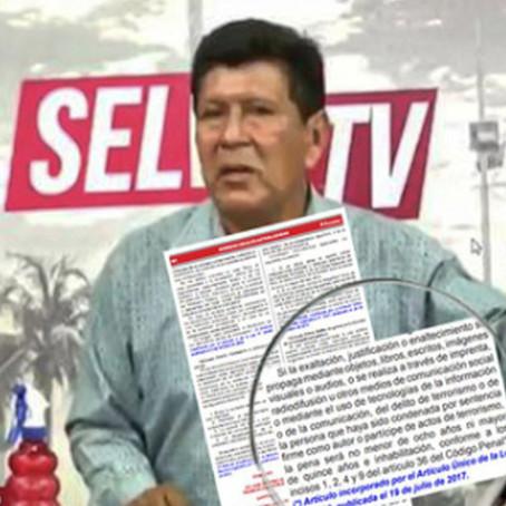 Iquitos: Periodista es denunciado por presunta apología al terrorismo