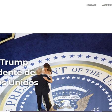 Donald Trump lanza su página web