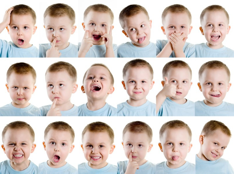 So many facial expressions!