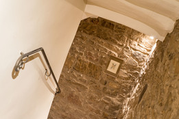 Exposed stone staircase