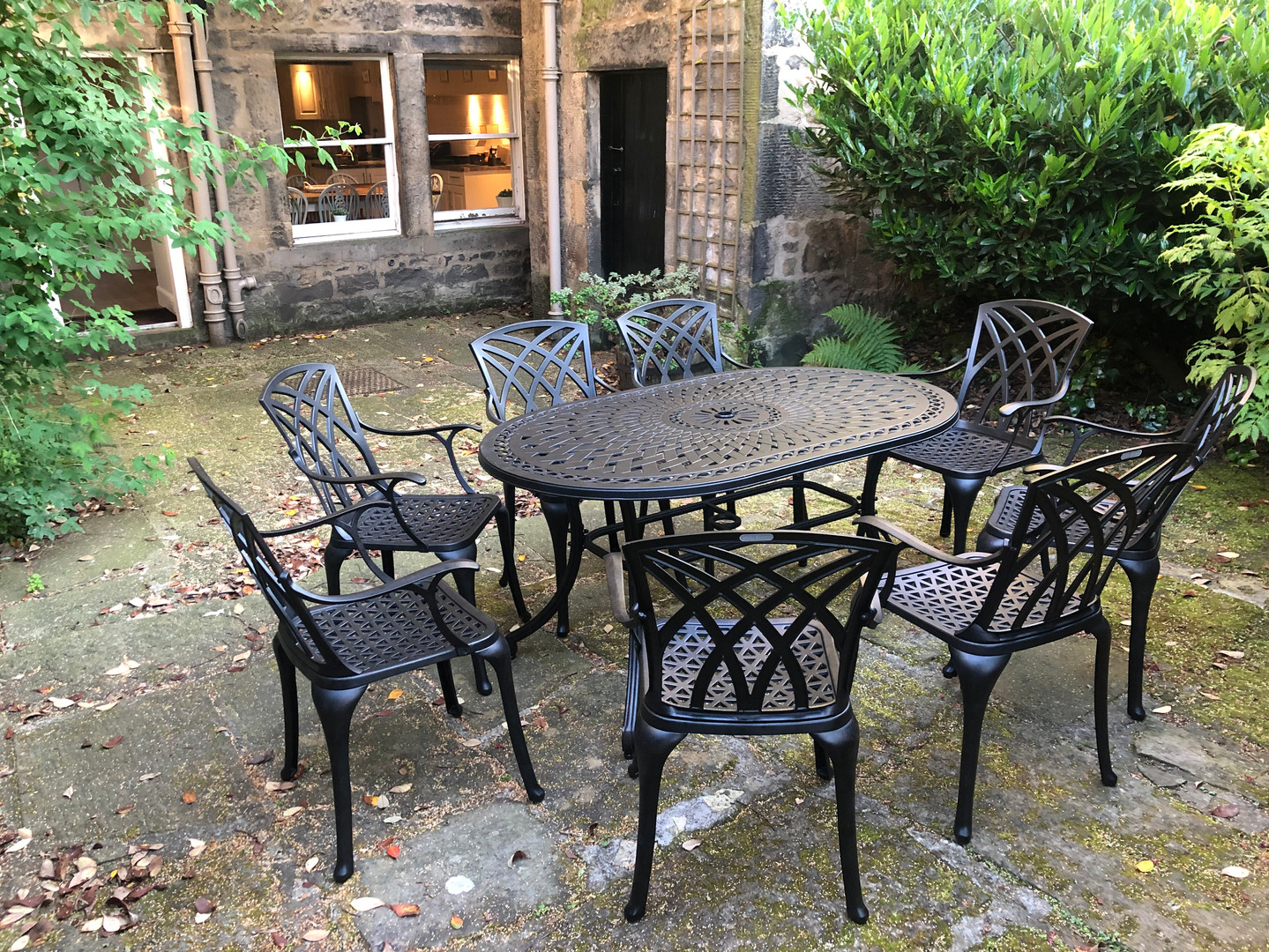 Outside area garden table