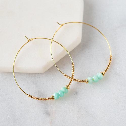Lily Earrings, Amazonite