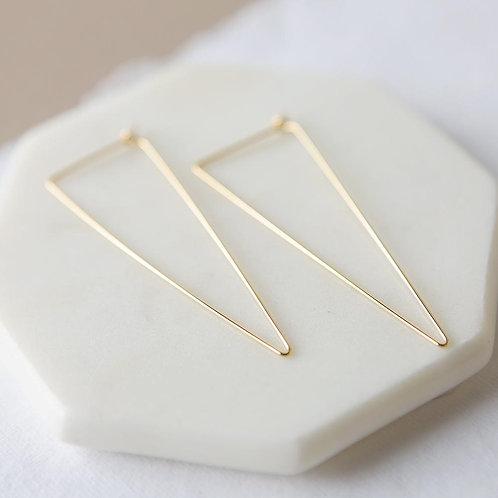Stevie Triangle Hoop Earrings