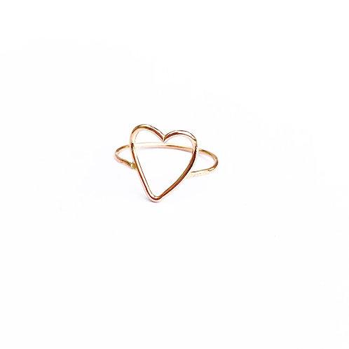 Crissie Open Heart Ring