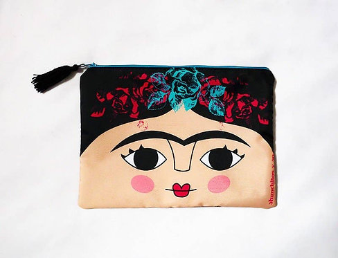 Cute Frida Kahlo Cosmetic Travel Bag
