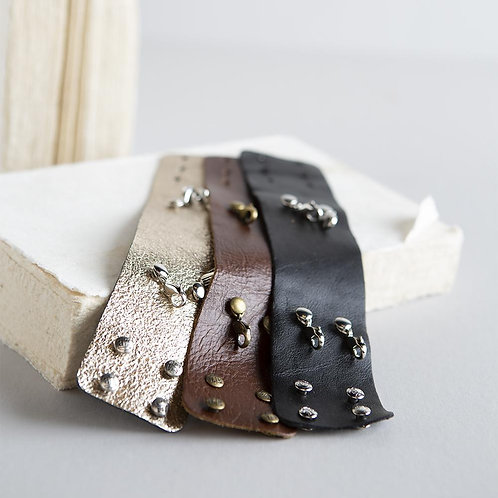Wide Leather Cuffs