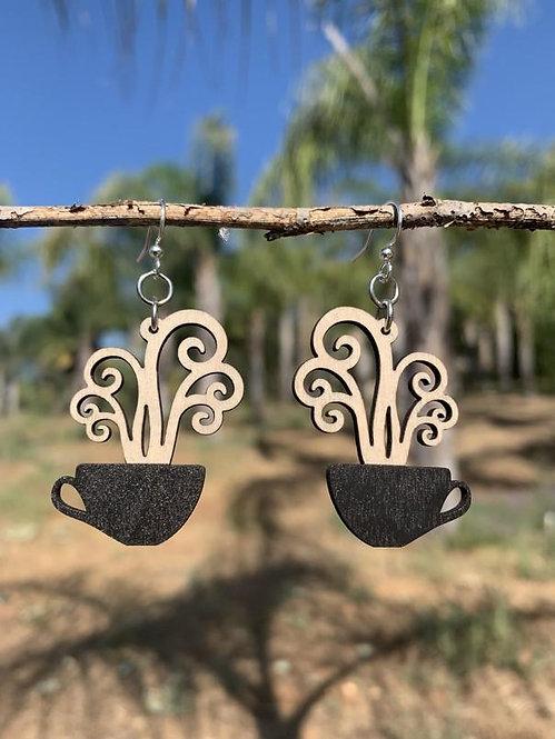 Steaming Coffee Cup Earrings