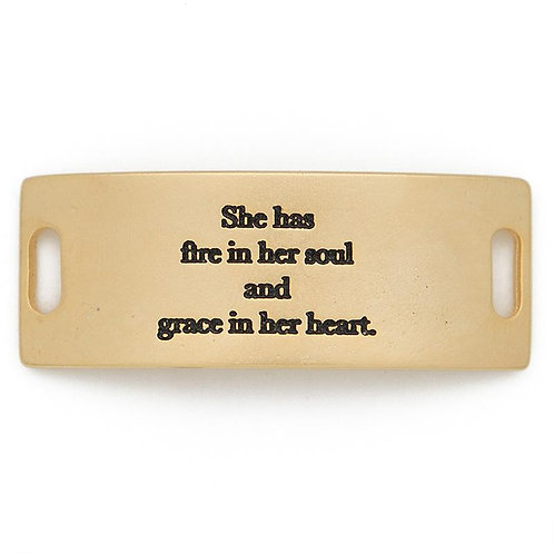 Grace in Her Heart Sentiment Bracelet Plate