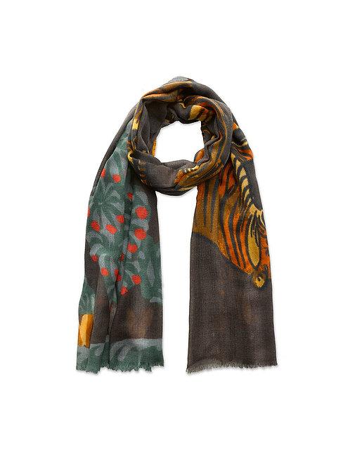 Tiger & Berry Bush Wool Scarf Limited Edition