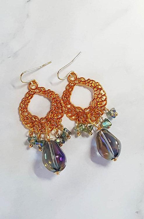 Elizabeth Filigree Chandelier Earrings