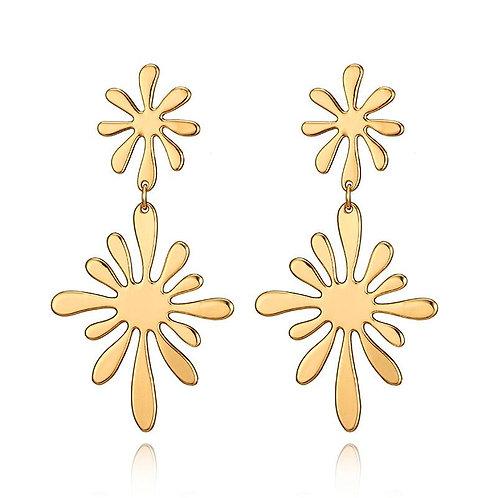Flower Power Double Flower Earrings
