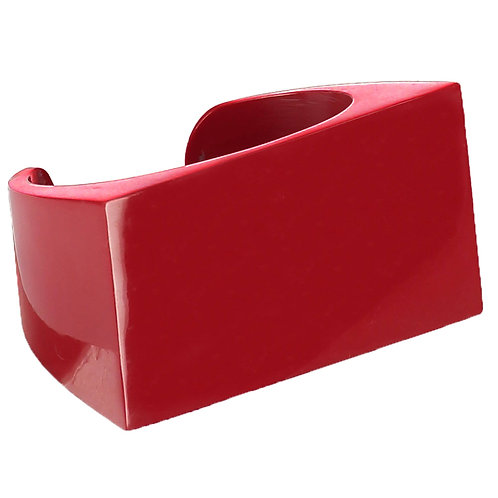 Red or Black Architectural Cuff Bracelet