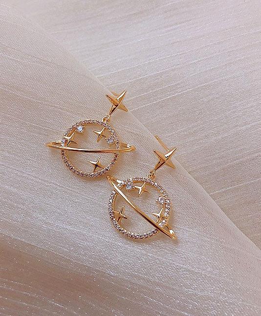 Celestial Planet & Star Earrings