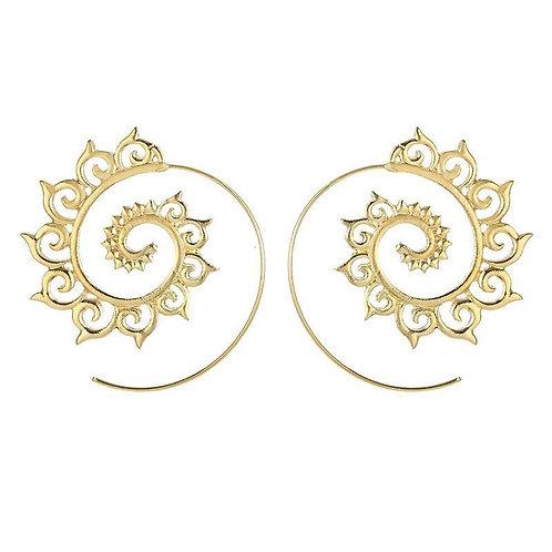 Sunny Swirl Gold Earrings