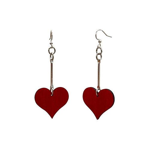 Simple Dangle Heart Earrings