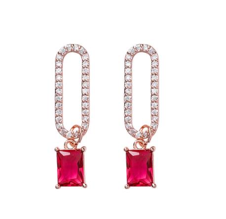 Joyeux Noel Ruby Crystal Drop Earrings