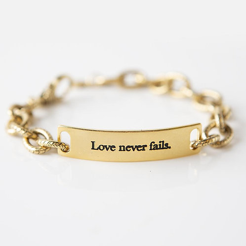 Love Never Fails Link Bracelet