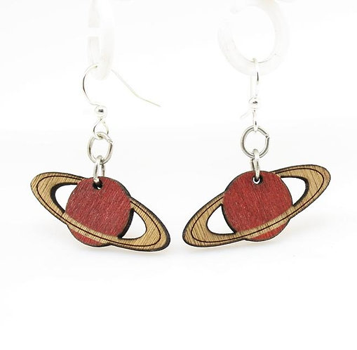 Wooden Planet Earrings Multiple Color Choices