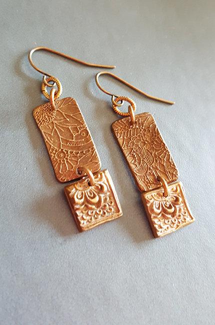 Sonnet Bronze Artisan Earrings