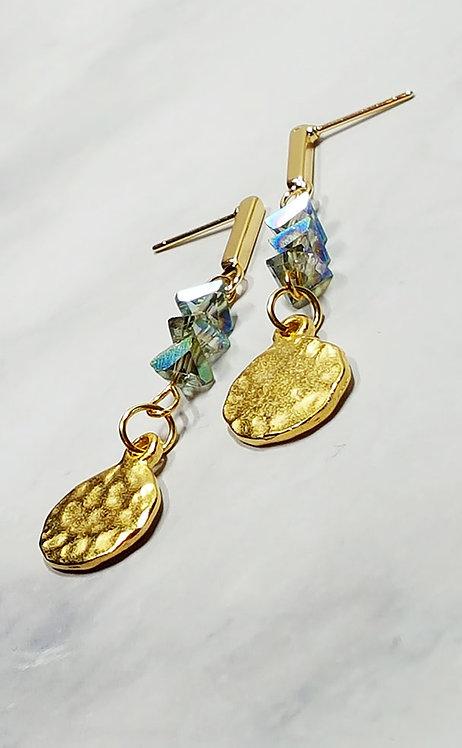 Natalia Sun & Sea Gold Disc Earrings
